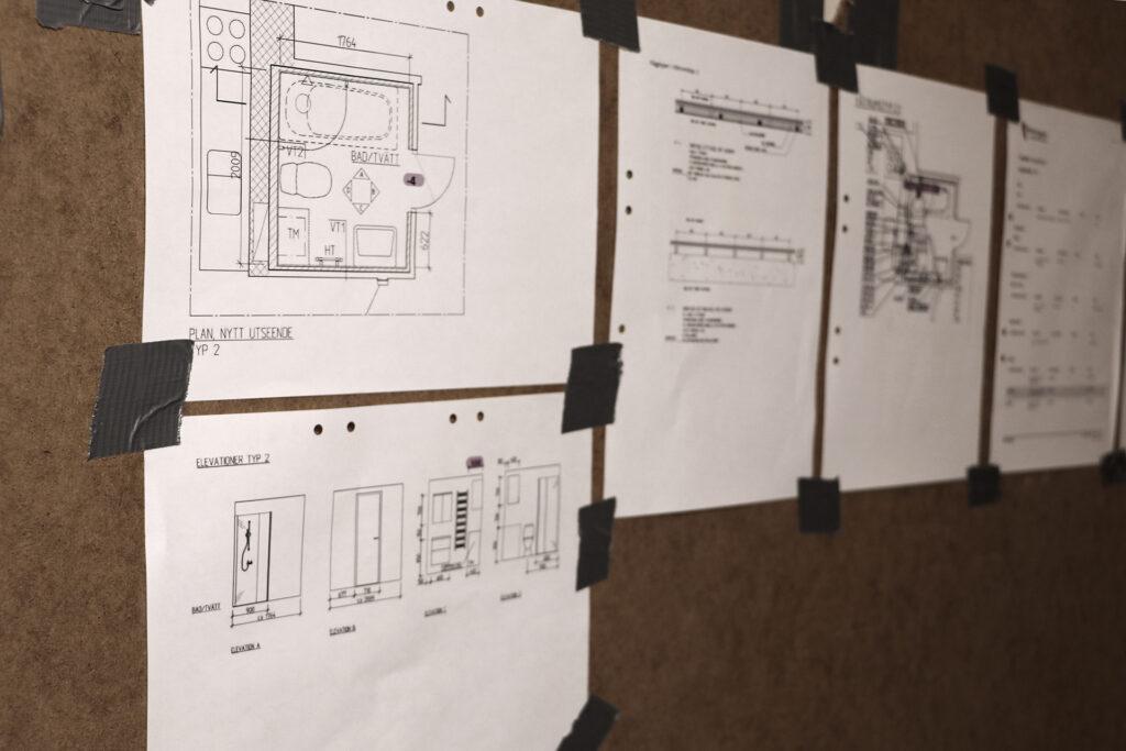 Smidigt stambyte med anslagna ritningar och lägenhetsspecifika val bostadsrättsförening i Göteborg - Kaborn Jensen Bygg AB