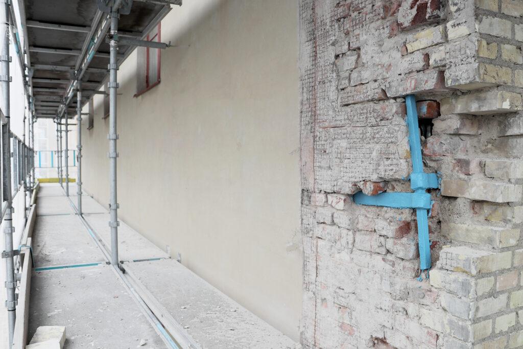 Pågående fasadrenovering, hyreshus i Göteborg – Kaborn Jensen Bygg AB