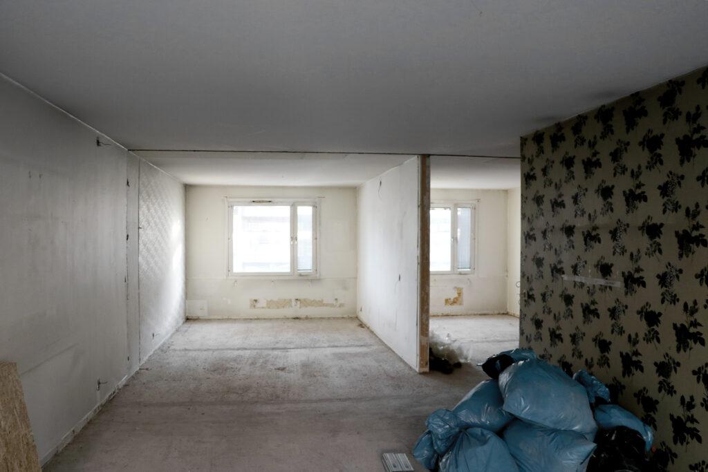 Pågående stambyte, hyreshus i Göteborg - Kaborn Jensen Bygg AB