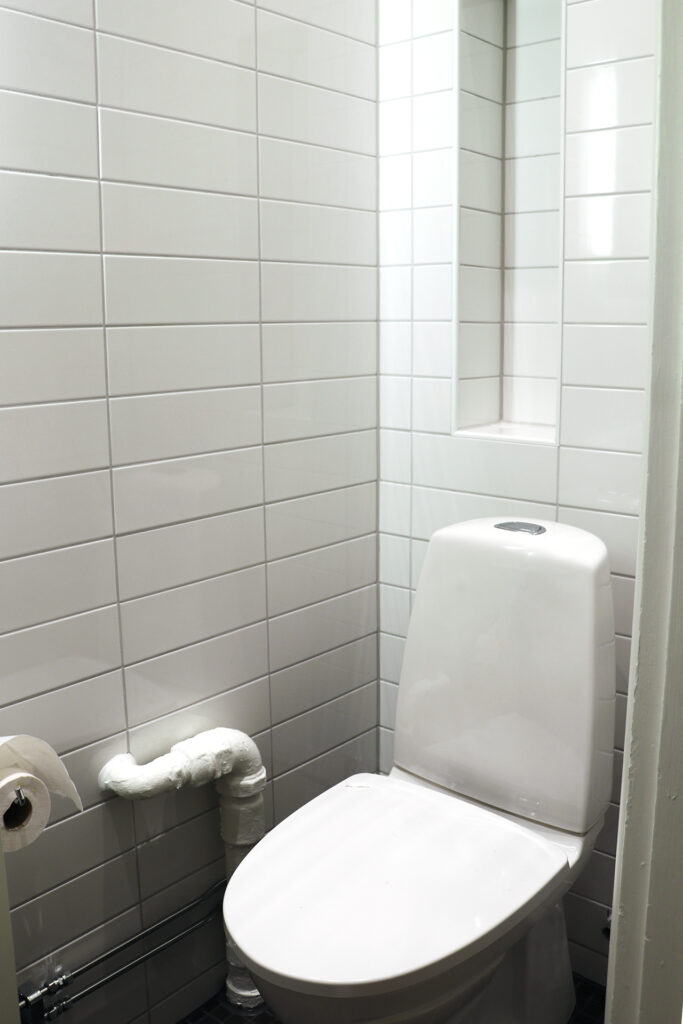 Efter avslutad stamrenovering badrum, brf i Göteborg - Kaborn Jensen Bygg AB