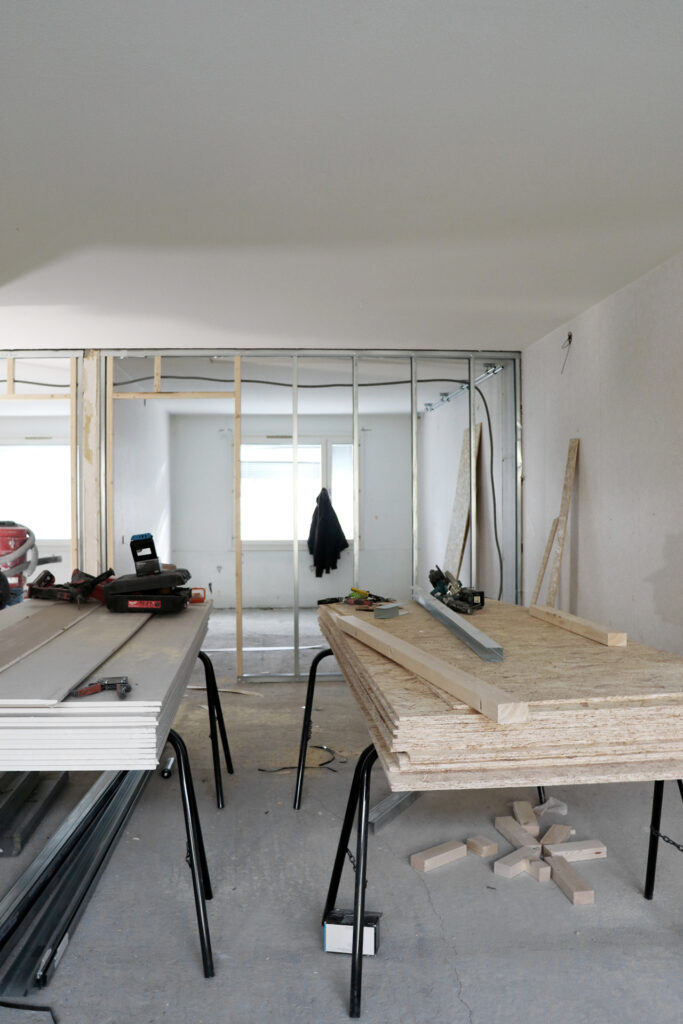 Pågående renovering, hyresfastighet i Göteborg - Kaborn Jensen Bygg AB