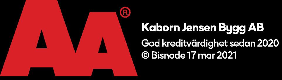 God kreditvärdighet - Kaborn Jensen Bygg AB